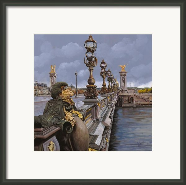 Paris-pont Alexandre Iii Framed Print By Guido Borelli