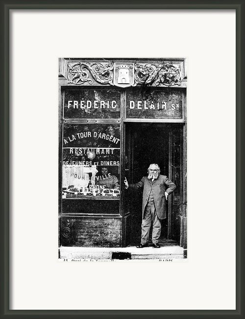 Paris: Restaurant, 1890s Framed Print By Granger