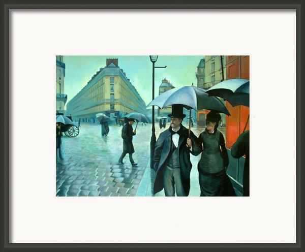 Paris Street Rainy Day Framed Print By Jose Roldan Rendon