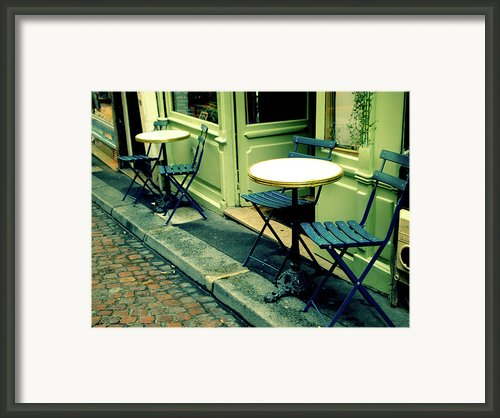 Parisian Patio Framed Print By Maryam Siddiqi