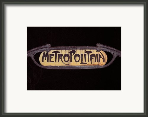 Parisienne Metro Sign Framed Print By Rod Jones