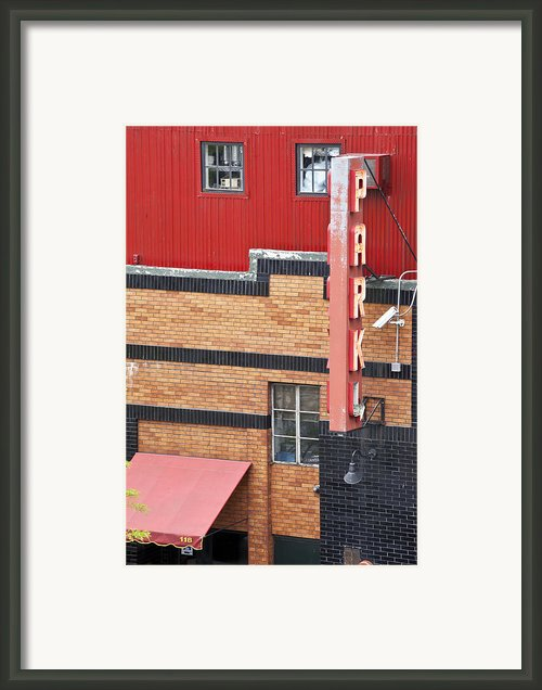 Park 1 Framed Print By Art Ferrier