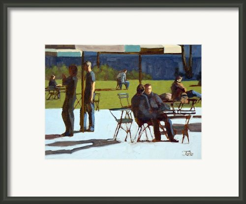 Park Visitors Framed Print By Tate Hamilton