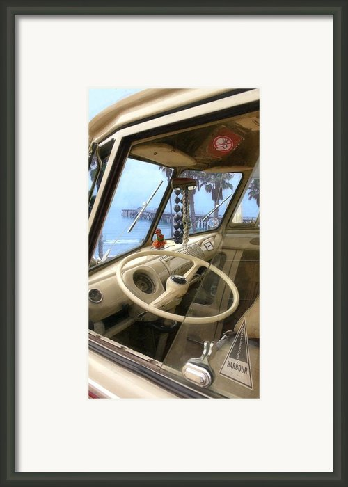 Parked Above The Pier Framed Print By Ron Regalado
