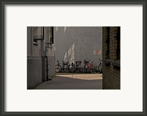 Parking In Rear Framed Print By Odd Jeppesen