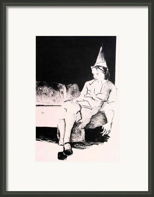Party Alone Framed Print By Brad Wilson