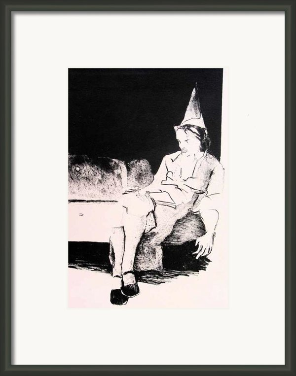 Party Alone Framed Print By Brad Wilson