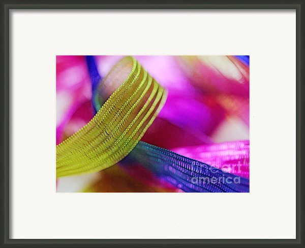 Party Ribbons Framed Print By Judi Bagwell