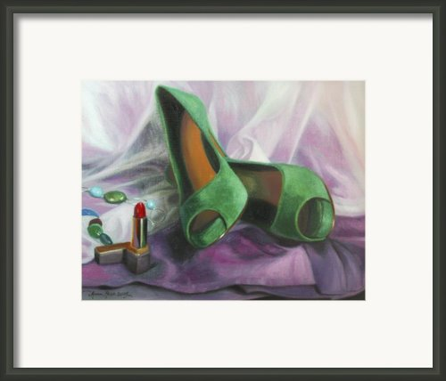 Party Shoes Framed Print By Anna Bain