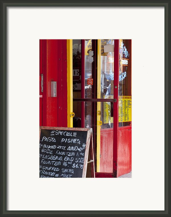 Pasta Dishes Framed Print By Art Ferrier