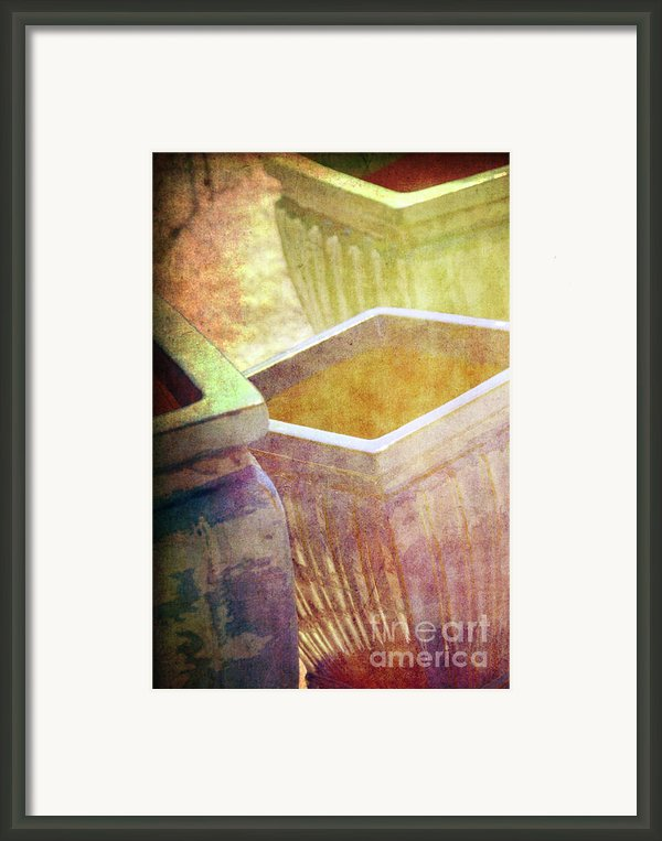 Pastel Pottery Framed Print By Susanne Van Hulst