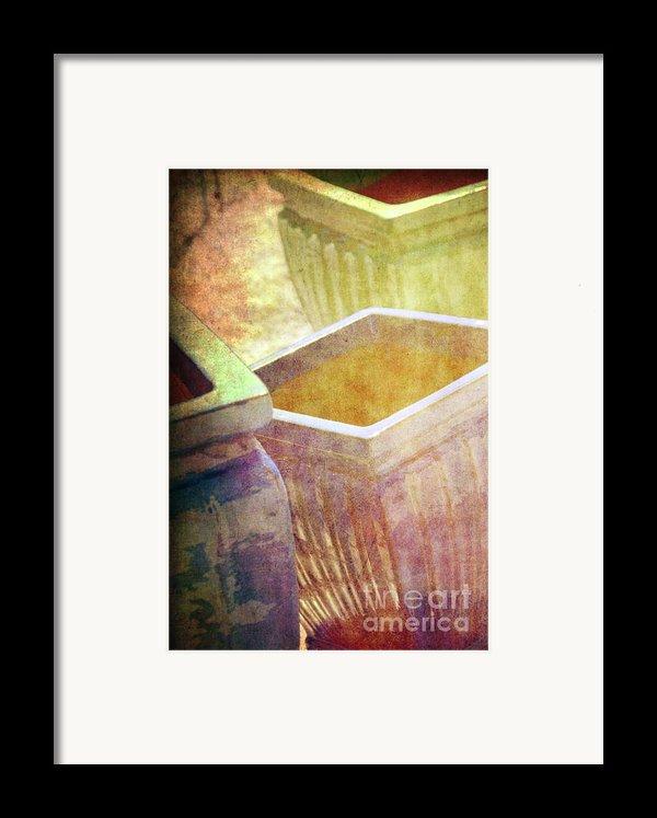 Pastel Pottery Framed Print By Susanne Van Hulst