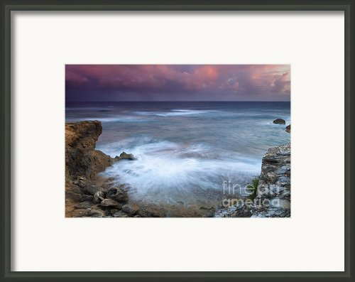 Pastel Storm Framed Print By Mike  Dawson