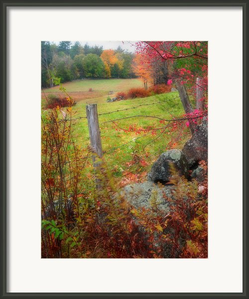 Pastoral New Hampshire - Autumn In The Monadnock Region Framed Print By Thomas Schoeller