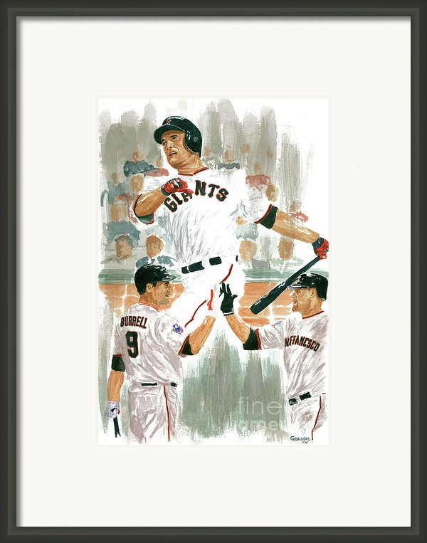 Pat Burrell Study 2 Framed Print By George  Brooks