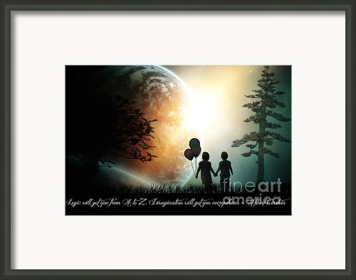 Path Of Imagination Framed Print By Eugene James