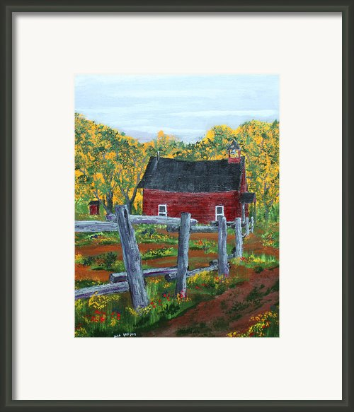 Path To The Red School House Framed Print By Jack  Brauer
