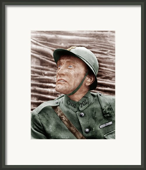 Paths Of Glory, Kirk Douglas, 1957 Framed Print By Everett