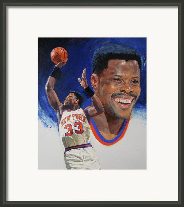 Patrick Ewing Framed Print By Cliff Spohn