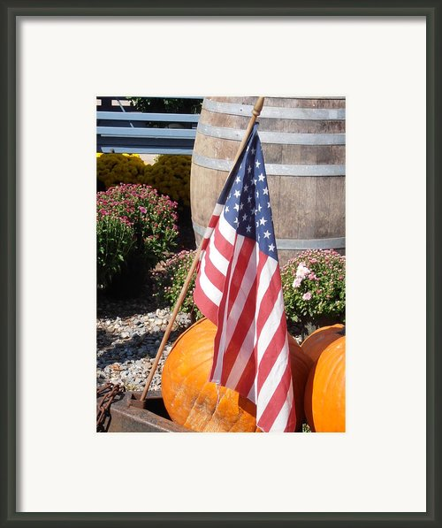 Patriotic Farm Stand Framed Print By Kimberly Perry