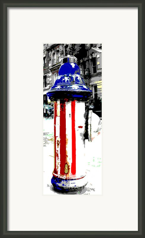Patriotic Fire Hydrant Framed Print By Anahi Decanio