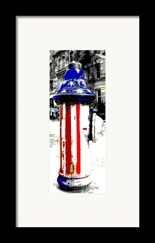 Patriotic Fire Hydrant Framed Print By Anahi Decanio