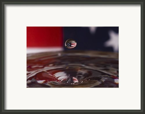 Patriotic Water Drop Framed Print By Anthony Sacco