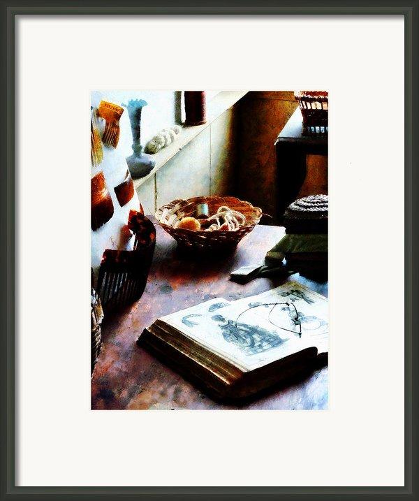 Pattern Book Framed Print By Susan Savad