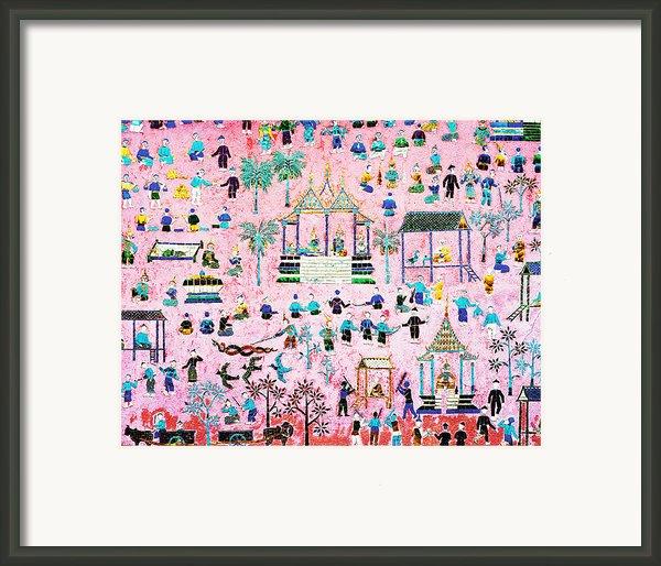 Pattern Of Art In Asia Framed Print By Setsiri Silapasuwanchai