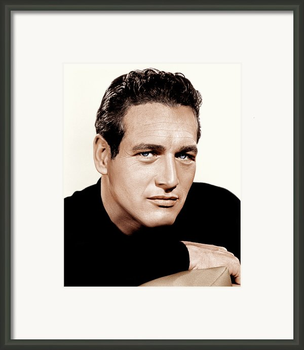 Paul Newman, Ca. 1963 Framed Print By Everett