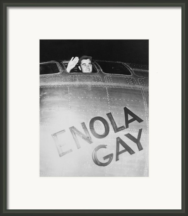 Paul Tibbets In The Enola Gay Framed Print By War Is Hell Store