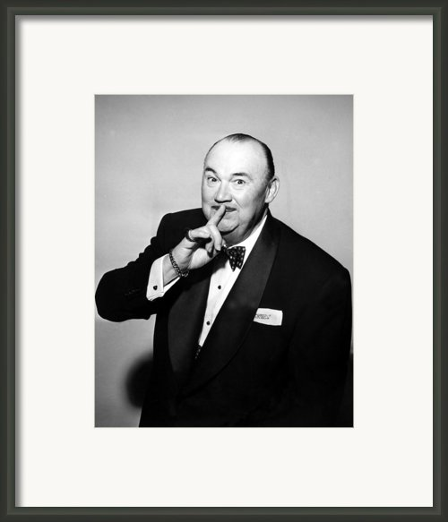 Paul Whiteman, Bandleader, Early 1950s Framed Print By Everett