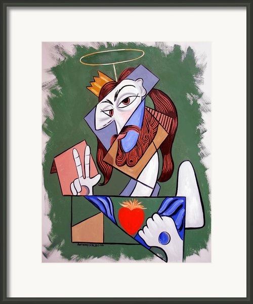 Peace Be With You Framed Print By Anthony Falbo