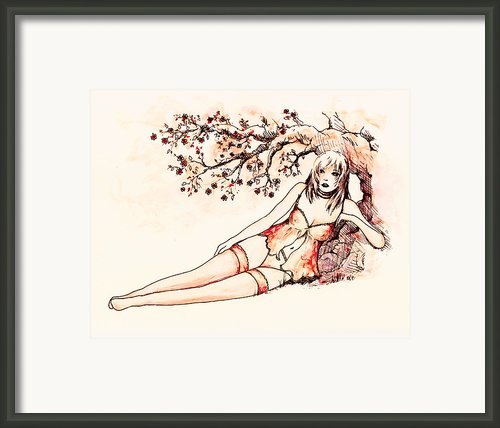 Peach Framed Print By Rachel Christine Nowicki