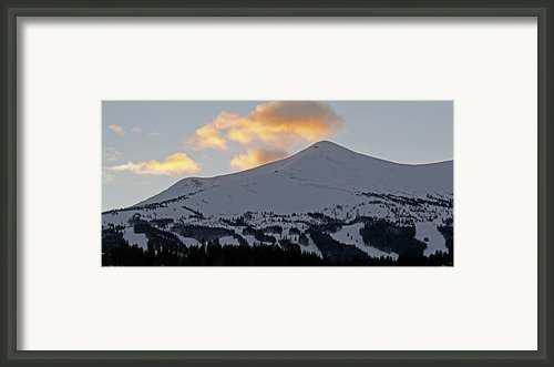 Peak 8 At Dusk - Breckenridge Colorado Framed Print By Brendan Reals