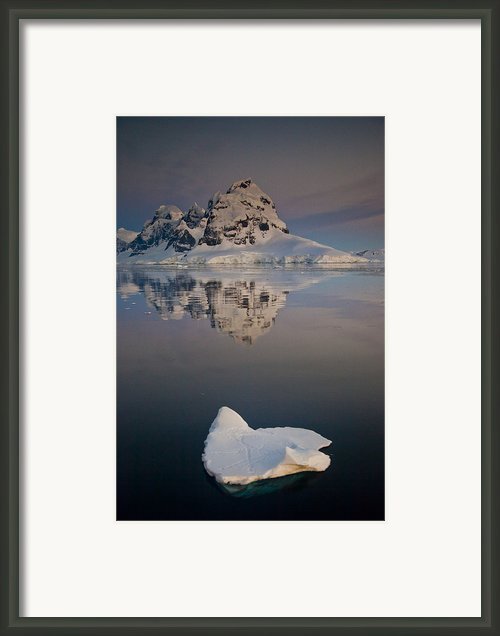 Peak On Wiencke Island Antarctic Framed Print By Colin Monteath