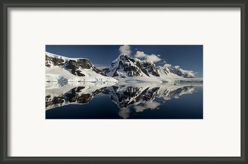 Peaks Along  Neumayer Channel Framed Print By Colin Monteath