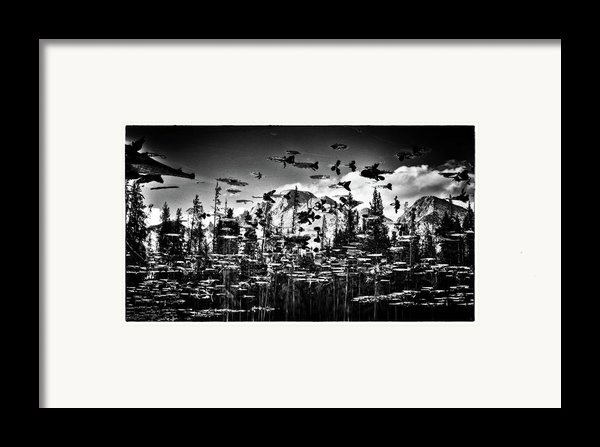 Peaks And Pads Framed Print By Kevin Munro