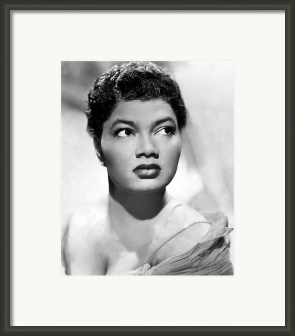 Pearl Bailey, Portrait Ca. 1952 Framed Print By Everett