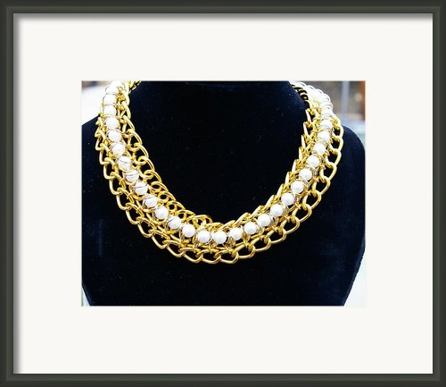 Pearls And Chains Framed Print By Susan Geluz