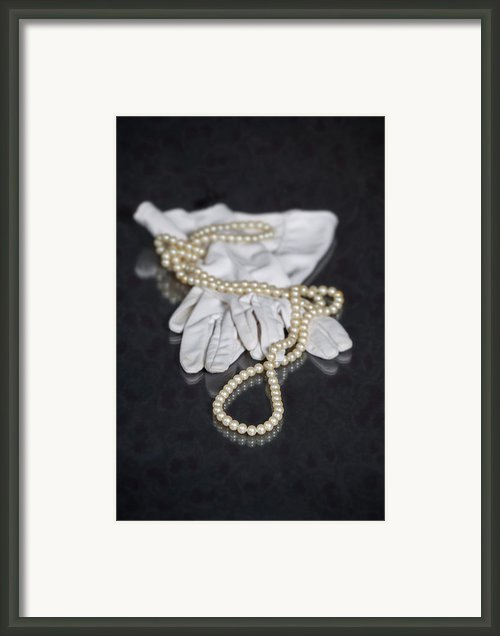 Pearls And Gloves Framed Print By Joana Kruse