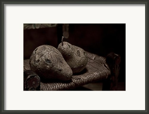 Pears On A Chair I Framed Print By Tom Mc Nemar