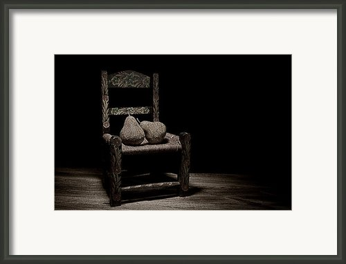Pears On A Chair Ii Framed Print By Tom Mc Nemar
