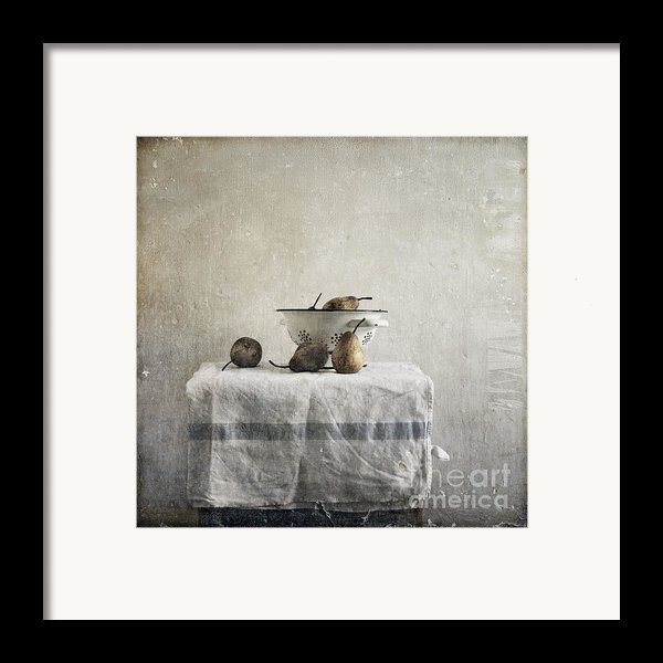Pears Under Grunge Framed Print By Paul Grand