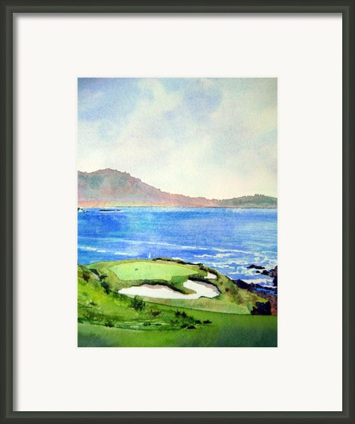 Pebble Beach Gc 7th Hole Framed Print By Scott Mulholland