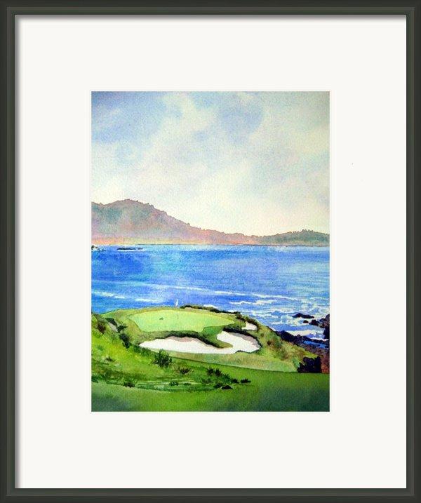 Pebble Beach Gc 7th Hole Framed Print By Scott Mulholland