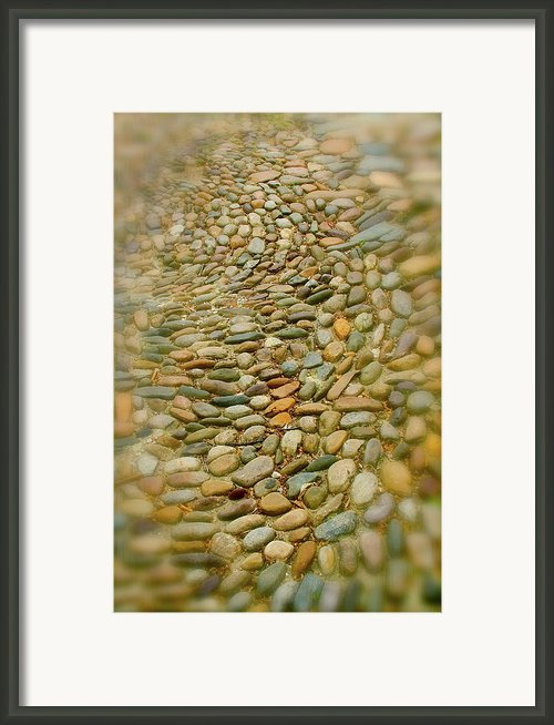 Pebbles  Framed Print By Rick  Monyahan