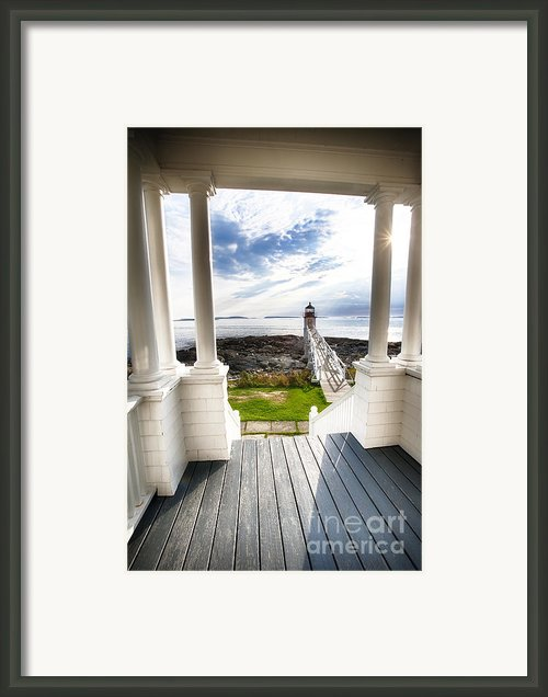 Peek Out To Sea Framed Print By George Oze