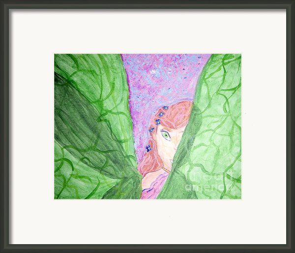 Peeking Fairy  Framed Print By Elizabeth Arthur