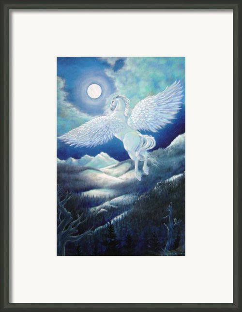 Pegasus Framed Print By Heather Calderon